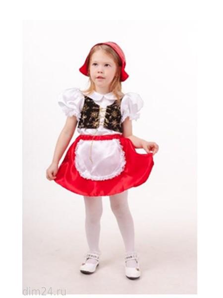 """""""Красная шапочка"""" (блузка с жилетом, юбка с фартуком, шапочка)"""